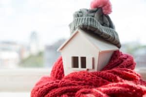 maison confortable en hiver